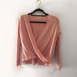 Project social tee pink long sleeve wrap top